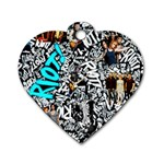 Panic! At The Disco College Dog Tag Heart (Two Sides) Front