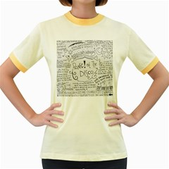 Panic! At The Disco Lyrics Women s Fitted Ringer T Shirts