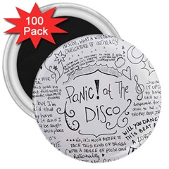 Panic! At The Disco Lyrics 3  Magnets (100 Pack)