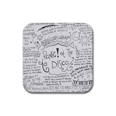 Panic! At The Disco Lyrics Rubber Square Coaster (4 Pack)