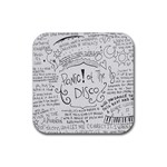 Panic! At The Disco Lyrics Rubber Square Coaster (4 pack)  Front