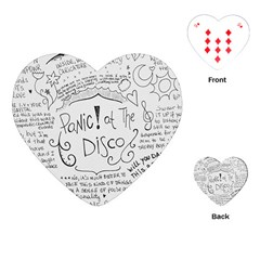 Panic! At The Disco Lyrics Playing Cards (heart)