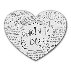 Panic! At The Disco Lyrics Heart Mousepads
