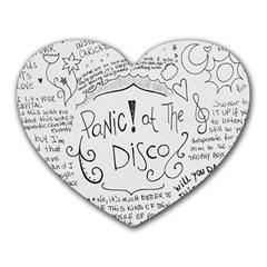 Panic! At The Disco Lyrics Heart Mousepads