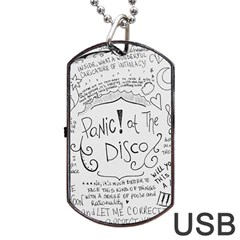 Panic! At The Disco Lyrics Dog Tag Usb Flash (two Sides)