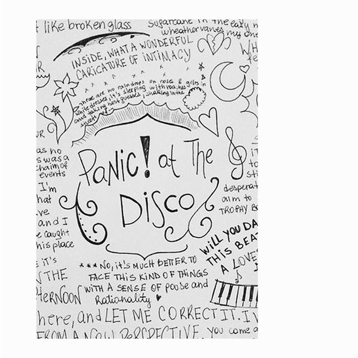 Panic! At The Disco Lyrics Small Garden Flag (Two Sides)