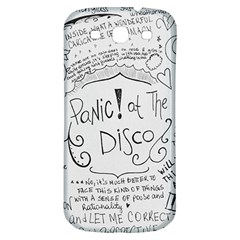 Panic! At The Disco Lyrics Samsung Galaxy S3 S Iii Classic Hardshell Back Case