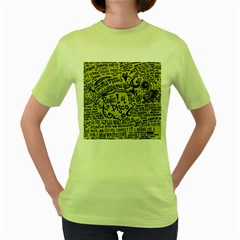 Panic! At The Disco Lyric Quotes Women s Green T Shirt