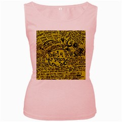Panic! At The Disco Lyric Quotes Women s Pink Tank Top