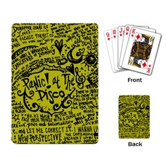 Panic! At The Disco Lyric Quotes Playing Card