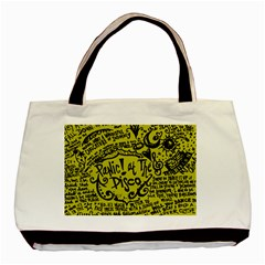 Panic! At The Disco Lyric Quotes Basic Tote Bag (two Sides)