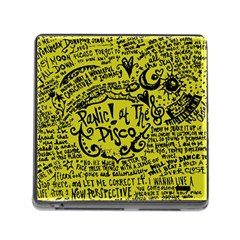 Panic! At The Disco Lyric Quotes Memory Card Reader (square)