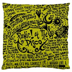 Panic! At The Disco Lyric Quotes Large Cushion Case (one Side)