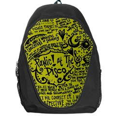 Panic! At The Disco Lyric Quotes Backpack Bag