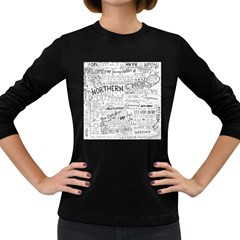 Panic At The Disco Lyrics Women s Long Sleeve Dark T Shirts