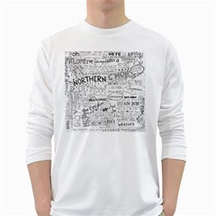 Panic At The Disco Lyrics White Long Sleeve T Shirts