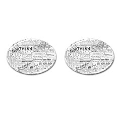 Panic At The Disco Lyrics Cufflinks (oval)