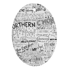 Panic At The Disco Lyrics Oval Ornament (two Sides)