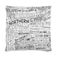 Panic At The Disco Lyrics Standard Cushion Case (one Side)