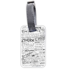 Panic At The Disco Lyrics Luggage Tags (two Sides)