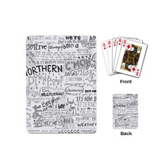 Panic At The Disco Lyrics Playing Cards (mini)