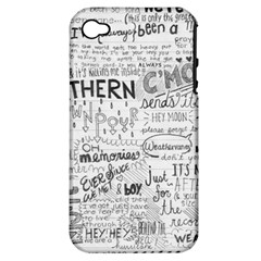 Panic At The Disco Lyrics Apple Iphone 4/4s Hardshell Case (pc+silicone)