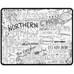 Panic At The Disco Lyrics Double Sided Fleece Blanket (medium)