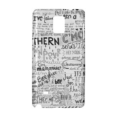 Panic At The Disco Lyrics Samsung Galaxy Note 4 Hardshell Case