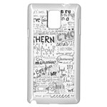 Panic At The Disco Lyrics Samsung Galaxy Note 4 Case (White) Front