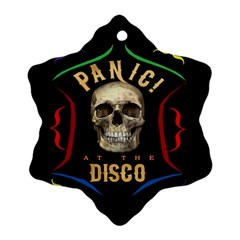 Panic At The Disco Poster Ornament (snowflake)