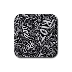 Panic At The Disco Lyric Quotes Retina Ready Rubber Coaster (square)