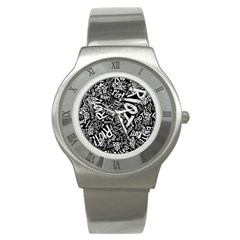 Panic At The Disco Lyric Quotes Retina Ready Stainless Steel Watch