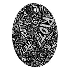 Panic At The Disco Lyric Quotes Retina Ready Oval Ornament (two Sides)