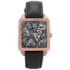 Panic At The Disco Lyric Quotes Retina Ready Rose Gold Leather Watch