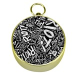 Panic At The Disco Lyric Quotes Retina Ready Gold Compasses Front