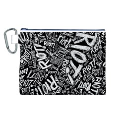 Panic At The Disco Lyric Quotes Retina Ready Canvas Cosmetic Bag (l)