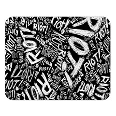 Panic At The Disco Lyric Quotes Retina Ready Double Sided Flano Blanket (large)
