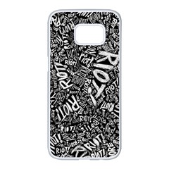 Panic At The Disco Lyric Quotes Retina Ready Samsung Galaxy S7 Edge White Seamless Case