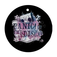 Panic At The Disco Art Ornament (round)