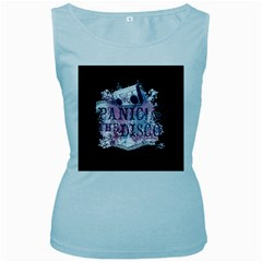 Panic At The Disco Art Women s Baby Blue Tank Top