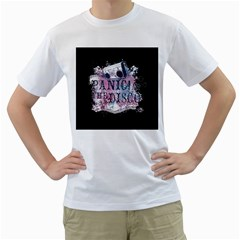 Panic At The Disco Art Men s T Shirt (white) (two Sided)