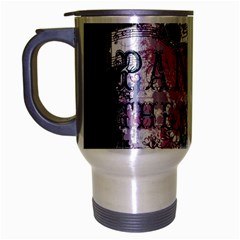 Panic At The Disco Art Travel Mug (silver Gray)