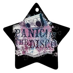 Panic At The Disco Art Star Ornament (two Sides)