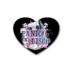 Panic At The Disco Art Rubber Coaster (heart)