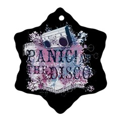 Panic At The Disco Art Snowflake Ornament (two Sides)