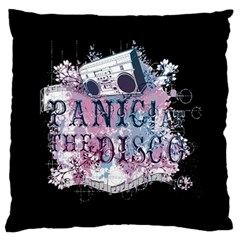 Panic At The Disco Art Large Flano Cushion Case (two Sides)