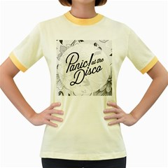 Panic At The Disco Flowers Women s Fitted Ringer T Shirts
