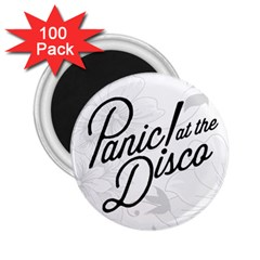 Panic At The Disco Flowers 2 25  Magnets (100 Pack)