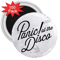 Panic At The Disco Flowers 3  Magnets (100 Pack)