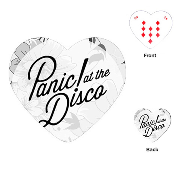Panic At The Disco Flowers Playing Cards (Heart)